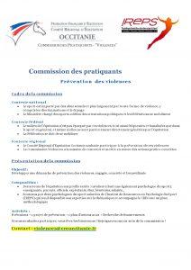 Commission des pratiquants – Prévention des violences